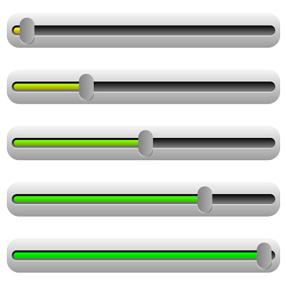 Adjuster, slider with yellow and green color. UI element.