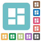 Admin dashboard panels rounded square flat icons