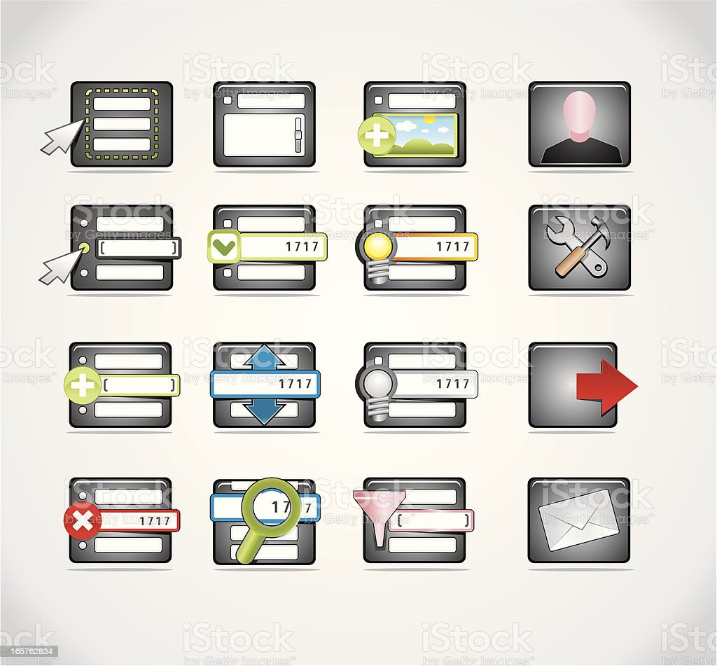 admin panel icons royalty-free stock vector art