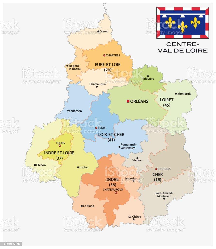 val de loire carte Administrative And Political Map Of The Region Centre Val De Loire