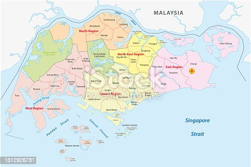 istock Administrative divisions of singapore 1312926731