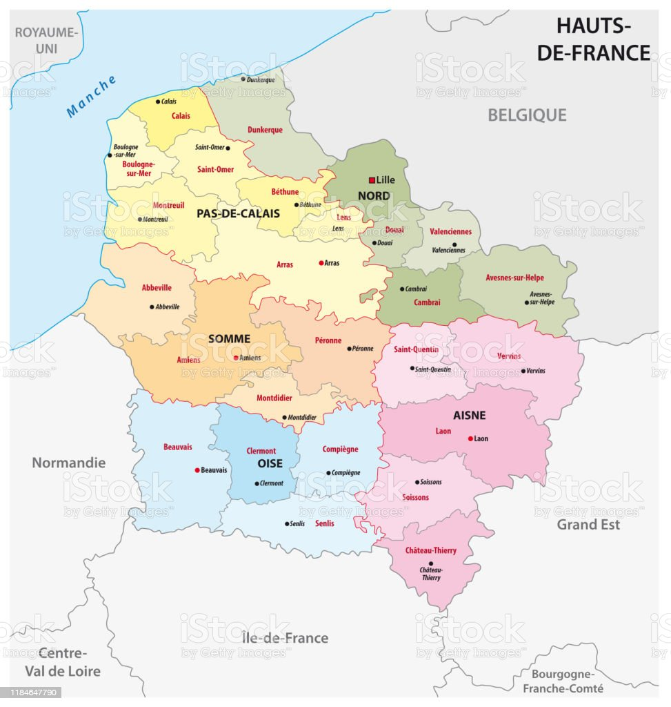 Image of: Administrative Map Of The New French Region Hauts De France Stock Illustration Download Image Now Istock