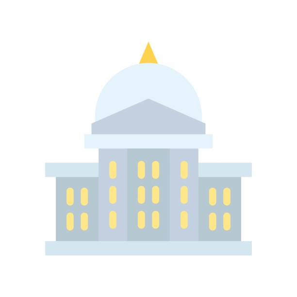 administrative related high court or judge building vector in flat design, administrative related high court or judge building vector in flat design administrate stock illustrations