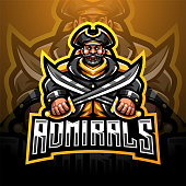 Illustration of Admirals esport mascot logo design