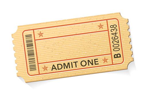 Admit One Event Ticket stock illustration