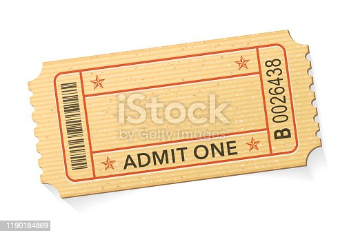 Admit One Event Ticket stock illustration