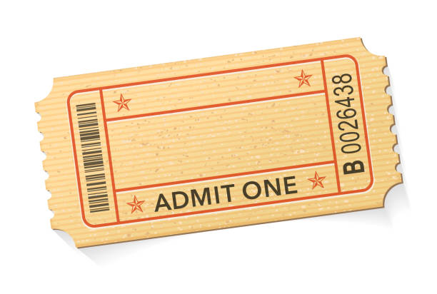 Admit One Event Ticket stock illustration Admit One Event Ticket stock illustration admit one stock illustrations