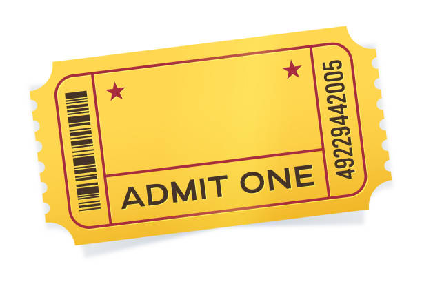 admit one event ticket - tickets and vouchers templates stock illustrations