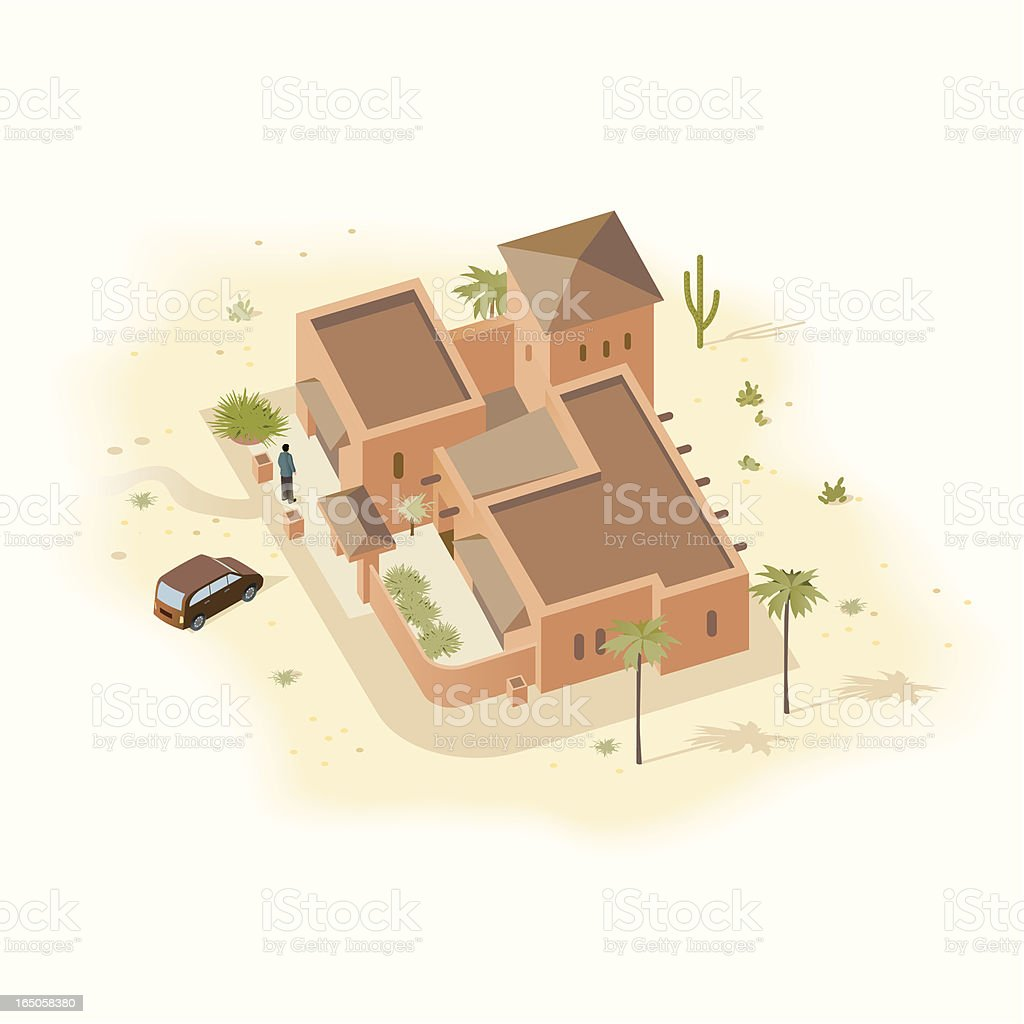 Adobe Gray House royalty-free stock vector art