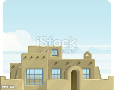 A southwestern adobe-style home.