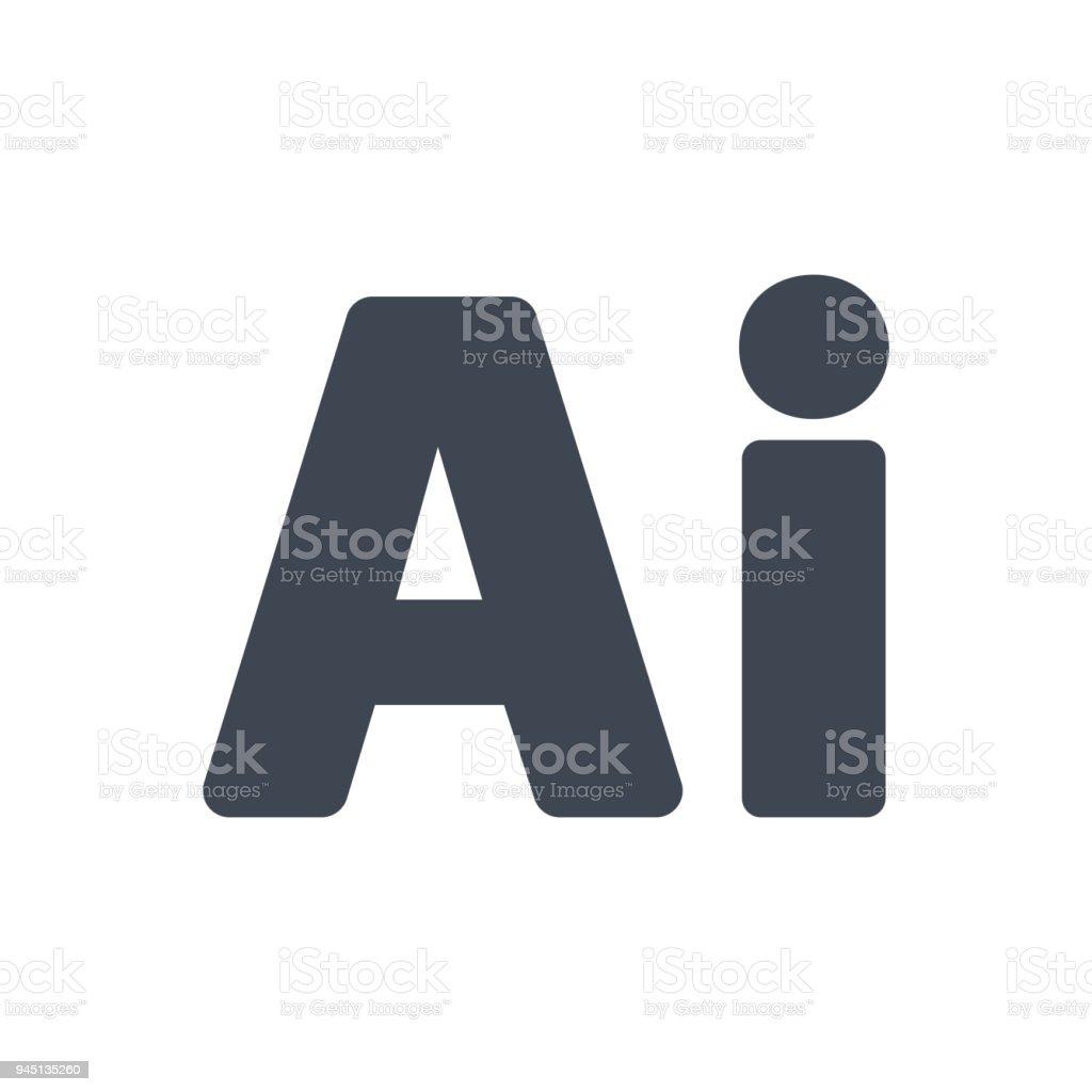 Adobe Illustrator Icon vector art illustration