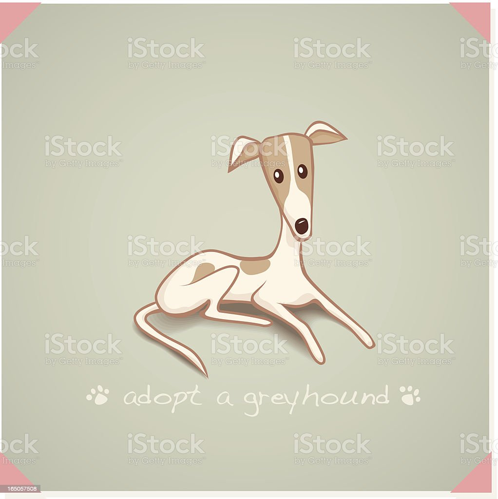 Adopt a Greyhound royalty-free stock vector art