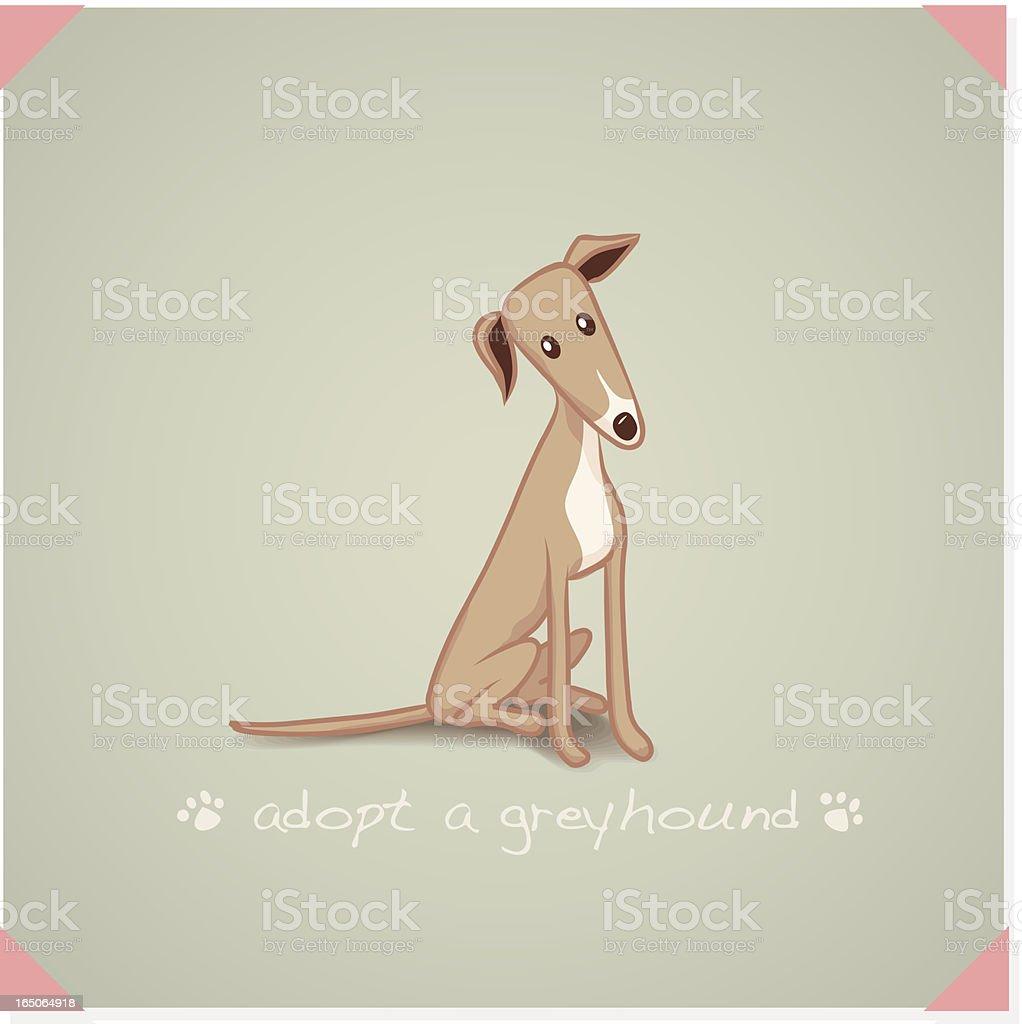Adopt a Greyhound vector art illustration