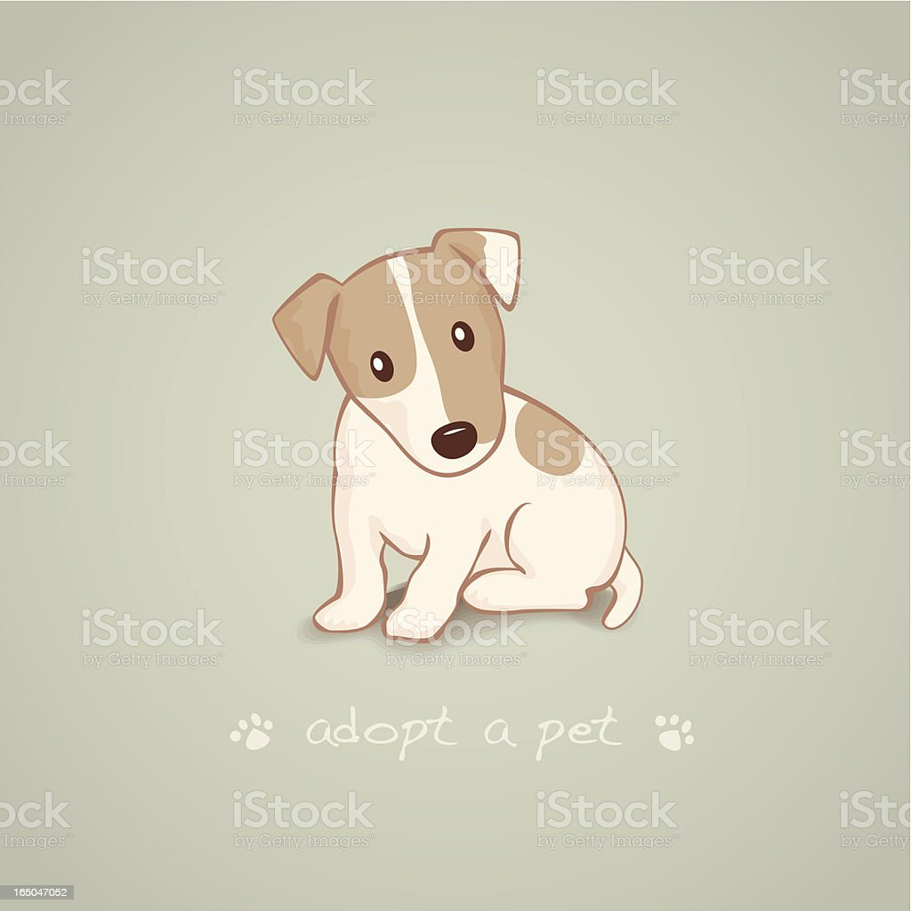 Adopt a Pet Jack Russell Terrier Sitting royalty-free stock vector art