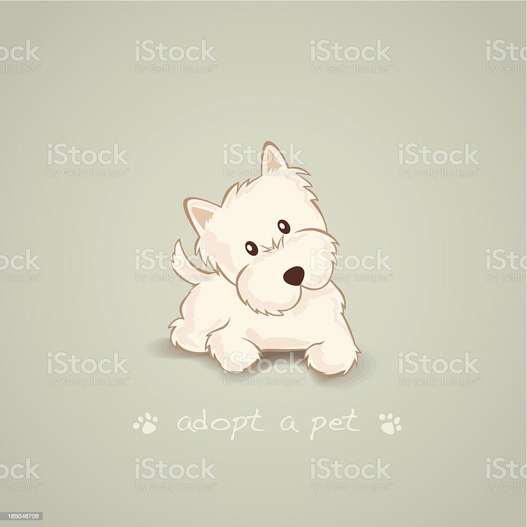 Adopt a Pet Westie royalty-free stock vector art