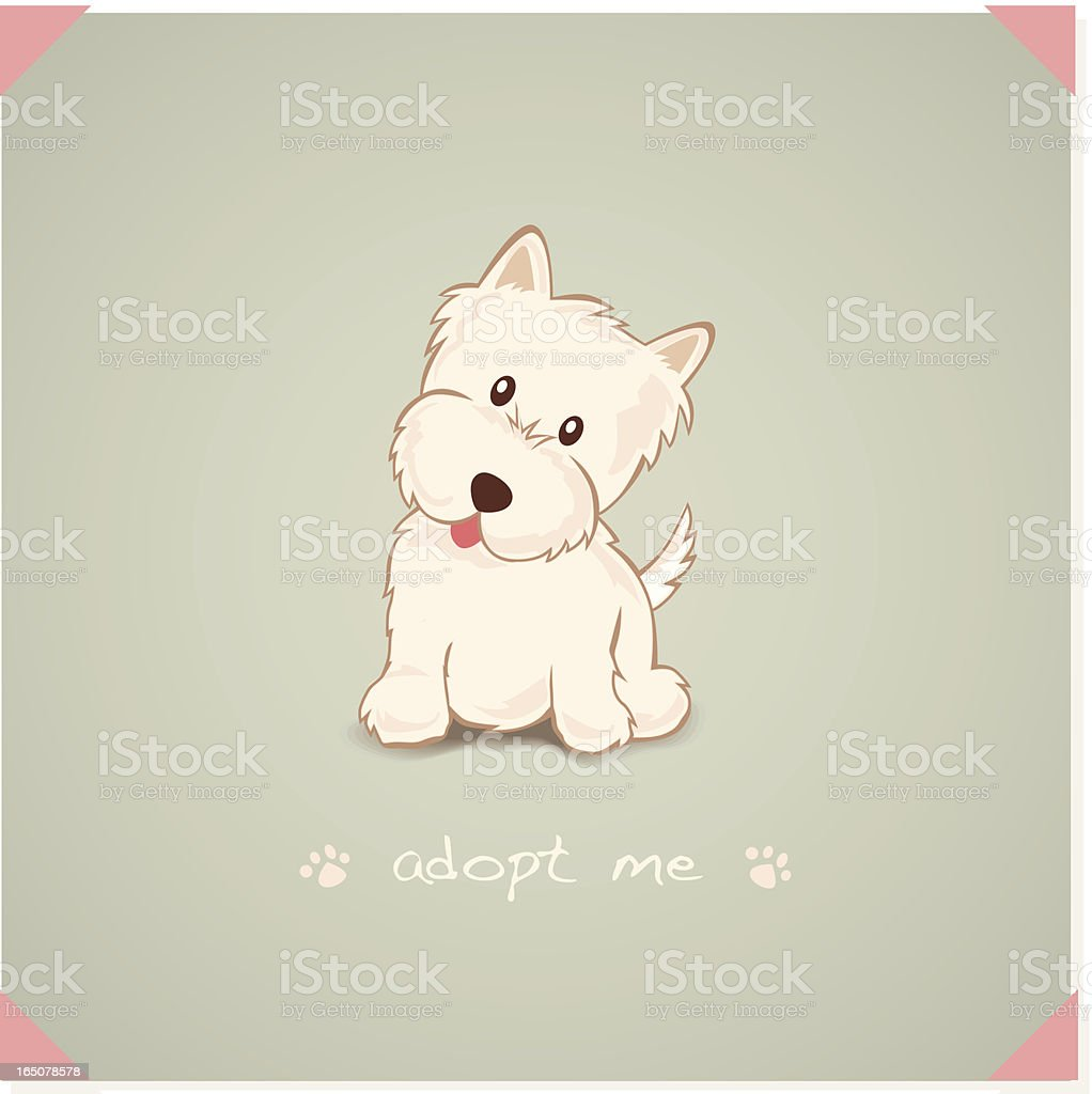Adopt a Westie royalty-free adopt a westie stock vector art & more images of animal