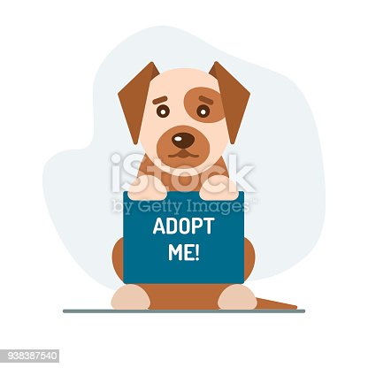 Adopt Me Illustration With Flat Dog Stock Vector Art & More Images ...