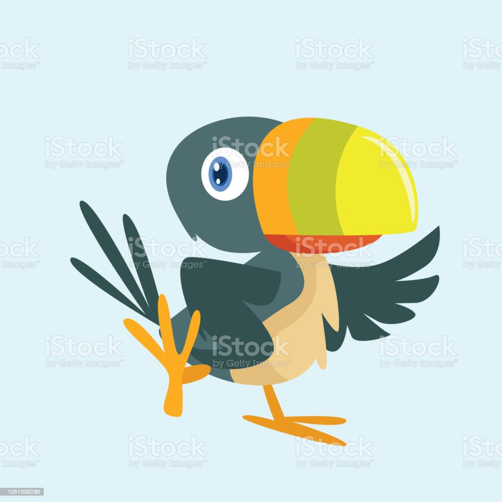 adorable and cheerful colorful beak of dodos or toucan