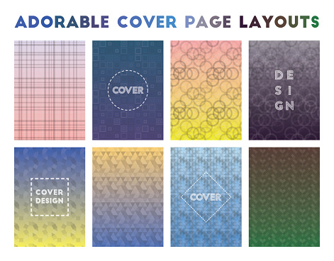 Adorable Cover Page Layouts.