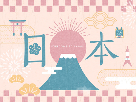 Adorable Japan travel poster