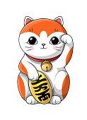 istock Adorable little cartoon kitten with big soulful eyes 1326655105