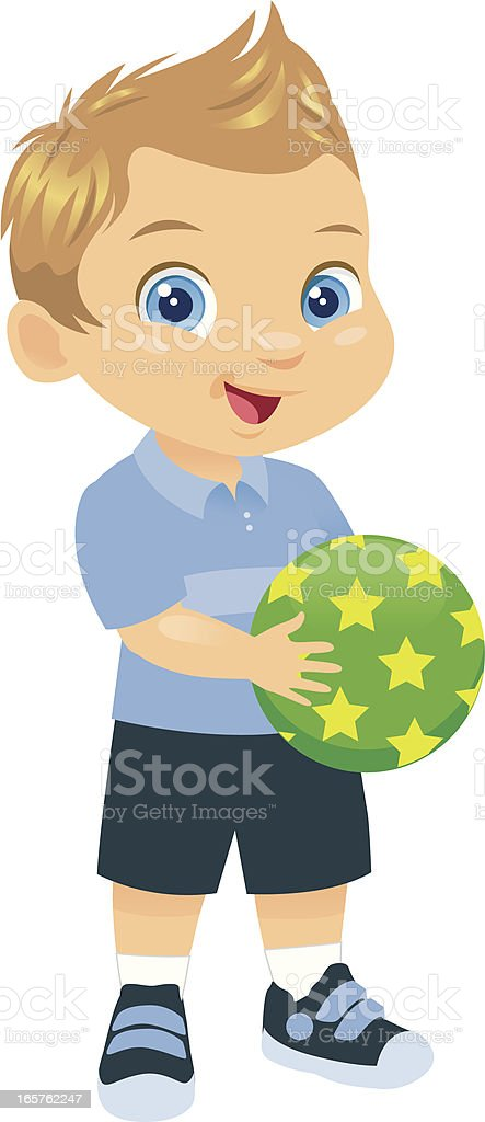 Adorable Little Toddler Boy vector art illustration