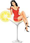 Adorable Martini Woman - New Version