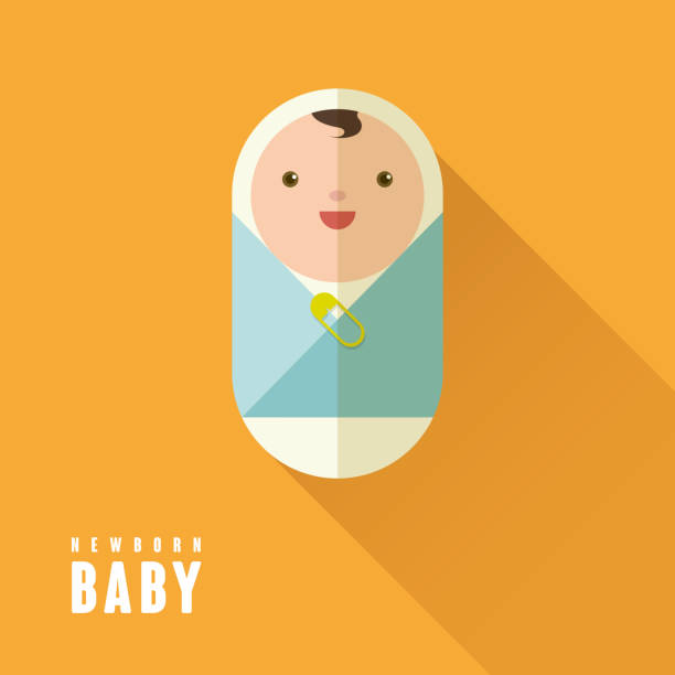 可愛らしい新生児 - 出産点のイラスト素材/クリップアート素材/マンガ素材/アイコン素材