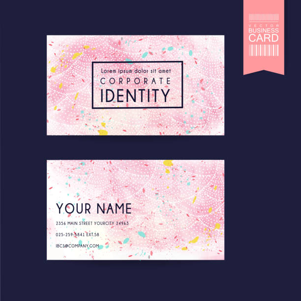Adorable pink business card template design stock vector art more adorable pink business card template design stock vector art more images of 2015 480212252 istock maxwellsz