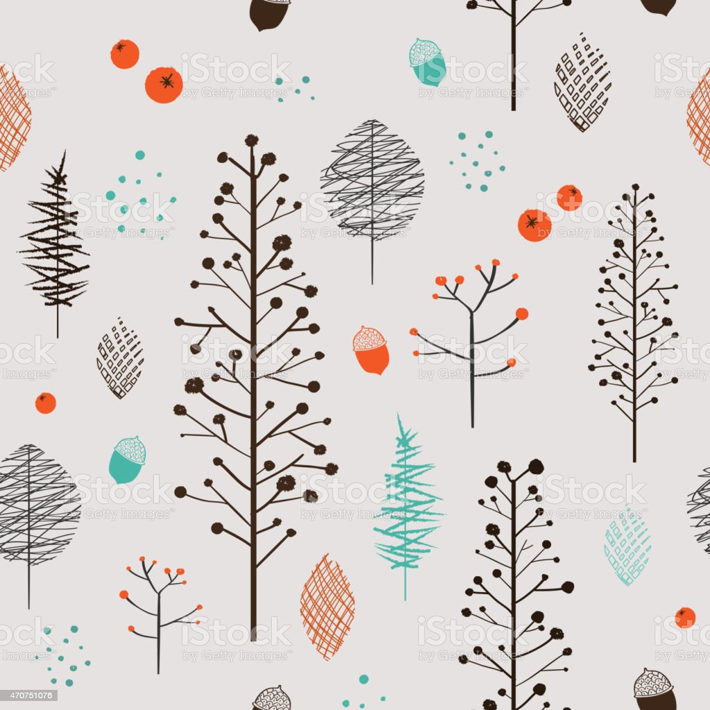 adorable plant seamless pattern vector art illustration