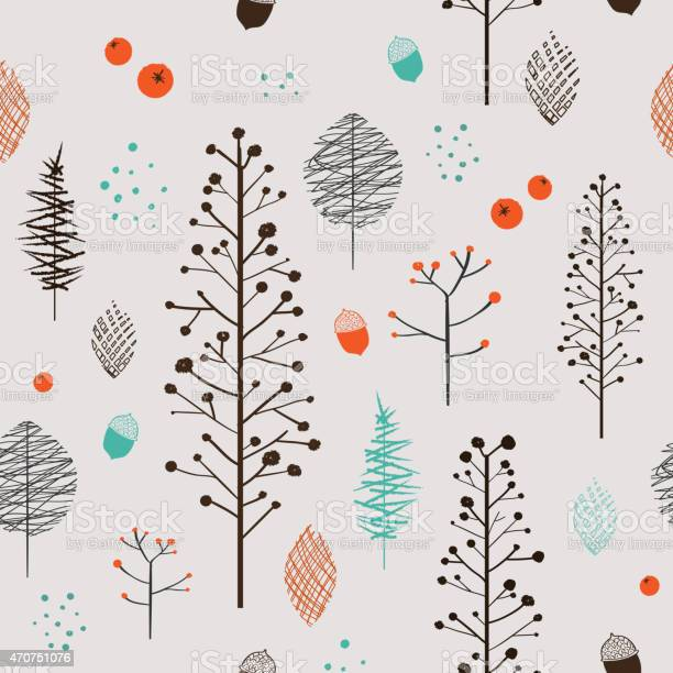 adorable plant seamless pattern over beige background