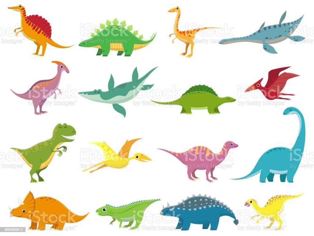 Ilustración de Dinosaurios De Sonrisas Adorables Dinosaurio ...