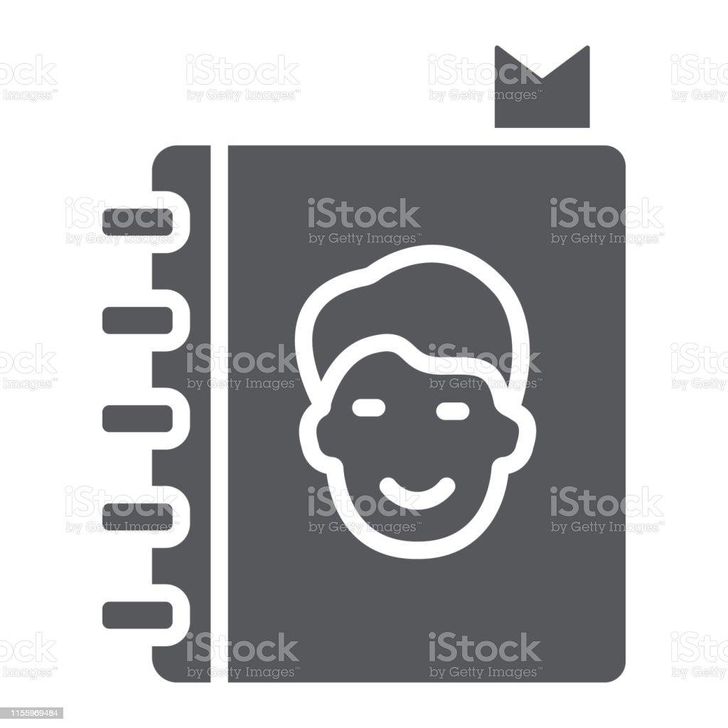 105410ecd6c Icono de glifo de la libreta de direcciones, contactos y cuaderno, signo de  la