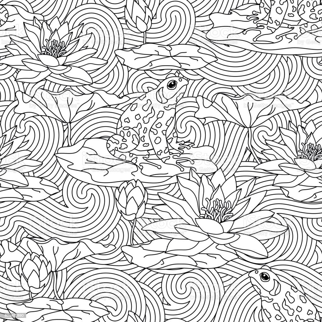 Adult Antistress Coloring Page Stock Illustration Download Image