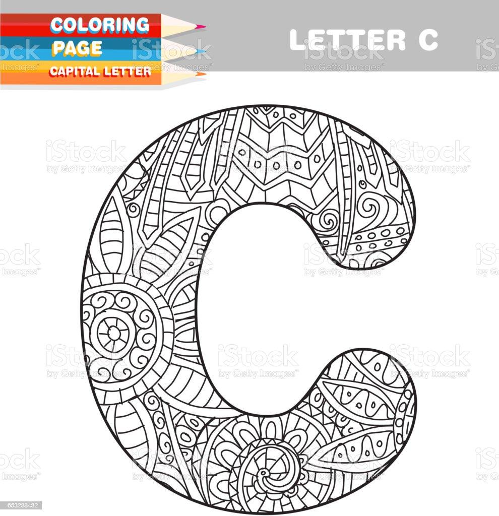 çizilmiş şablon Yetişkin Renklendirme Kitap Büyük Harf El Stok