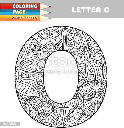 Adult Coloring Book Capital Letters