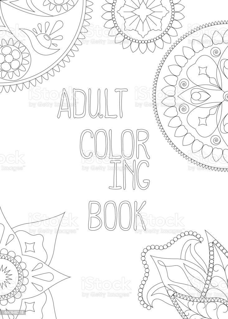 Ilustración de Adulto Para Colorear La Cubierta De Libro Ilustración ...