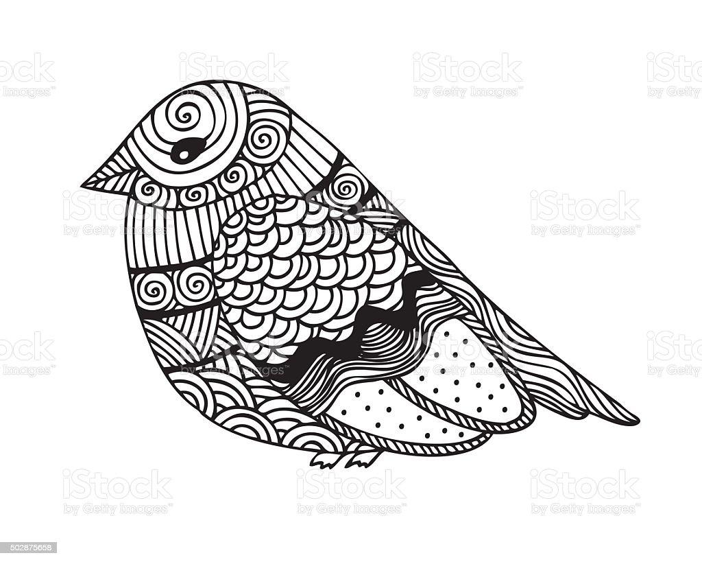 Adulte Livre De Coloriage Avec Des Oiseaux Page Design
