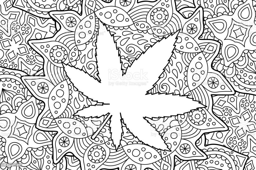 Ilustración De Adulto Para Colorear Página Del Libro Con La