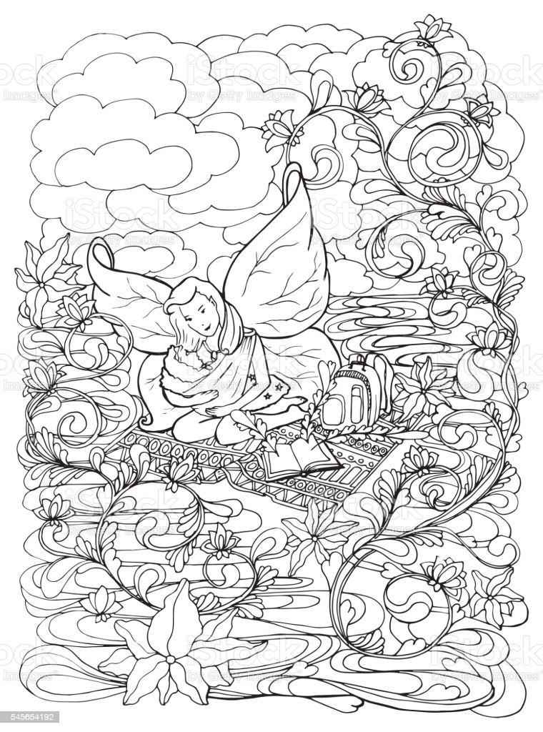 Adult Coloring Book Page With Mother Breast Feeding Her Baby Royalty Free Stock Vector