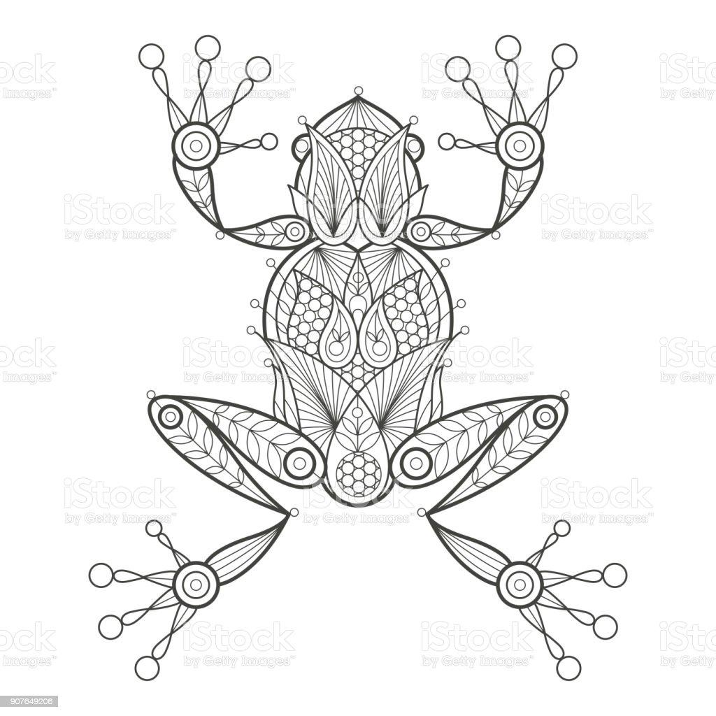 Vector Coloring Frog - #1 Clip Art & Vector Site •