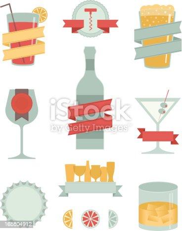 Adult Drinks Design Elements