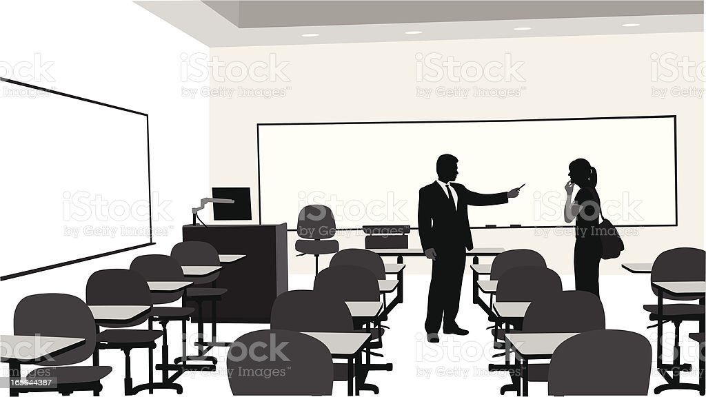 Adult Educational Vector Silhouette royalty-free stock vector art