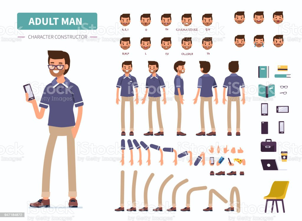 adult man royalty-free adult man stock illustration - download image now