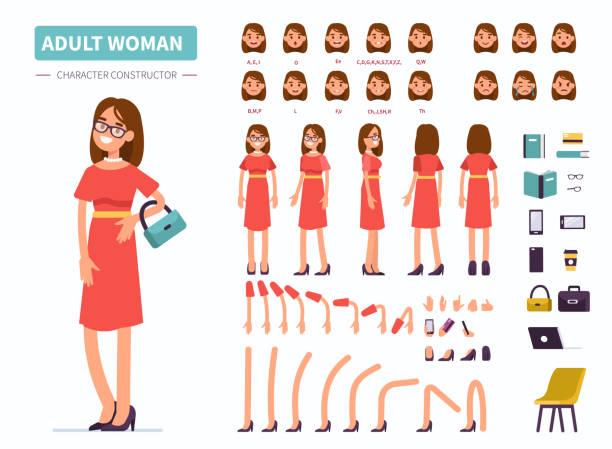 adult  woman - tylko jedna kobieta stock illustrations