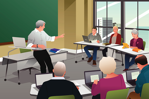 Adult education stock illustrations
