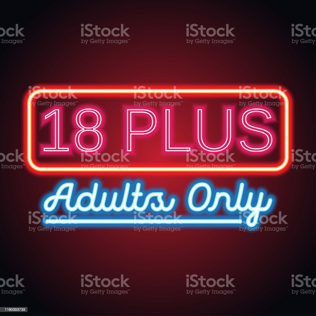 Adults Only Glowing Box For Outdoor Business Advertising Neon Sign