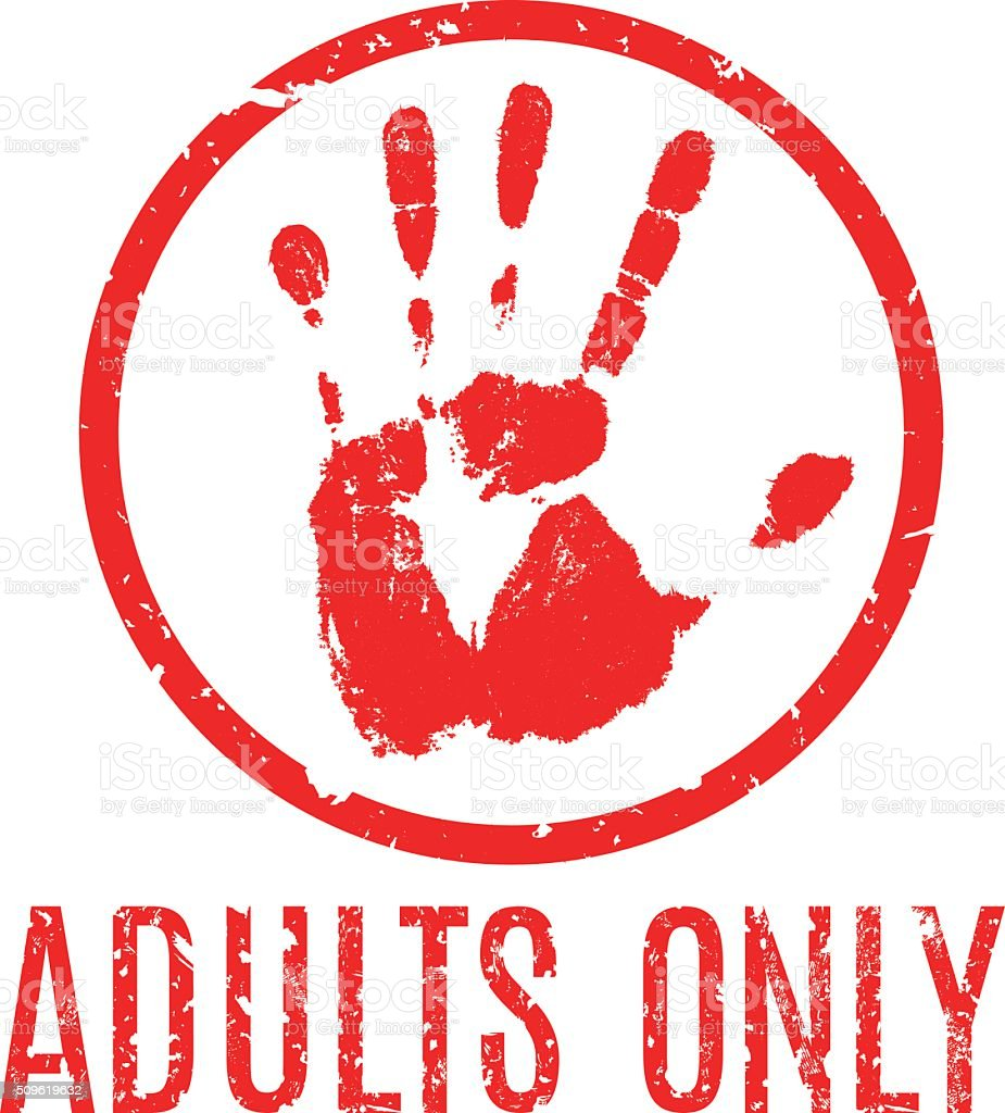 adults only in the style of grunge vector art illustration