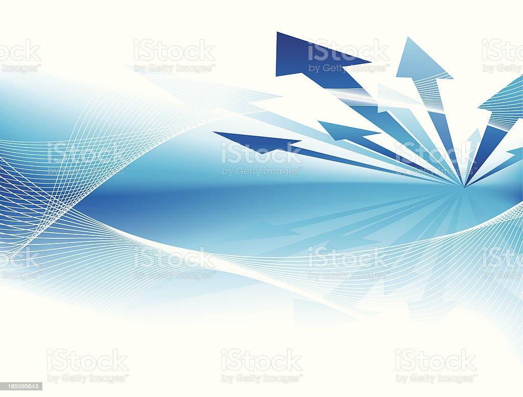 Advance arrows vector art illustration