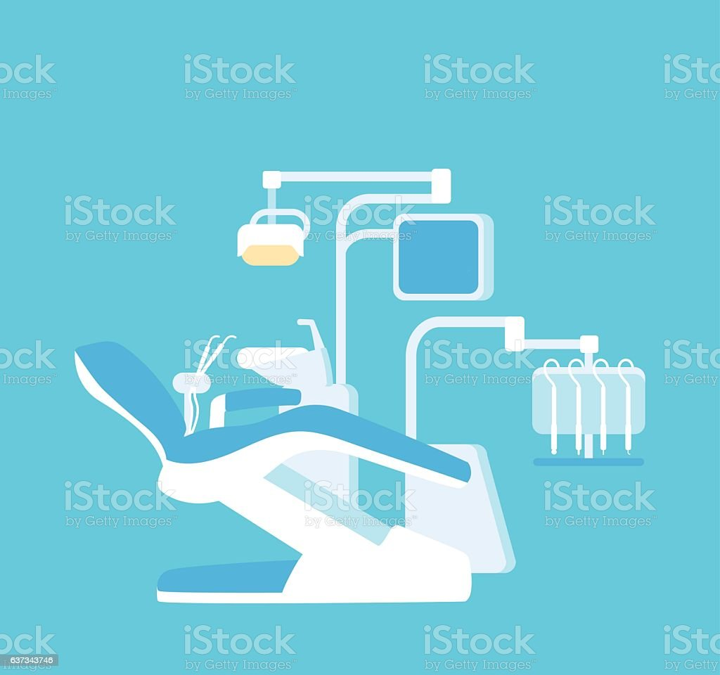 Advanced dentist chair vector art illustration